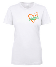 Miami Scribble Orange & Green Heart