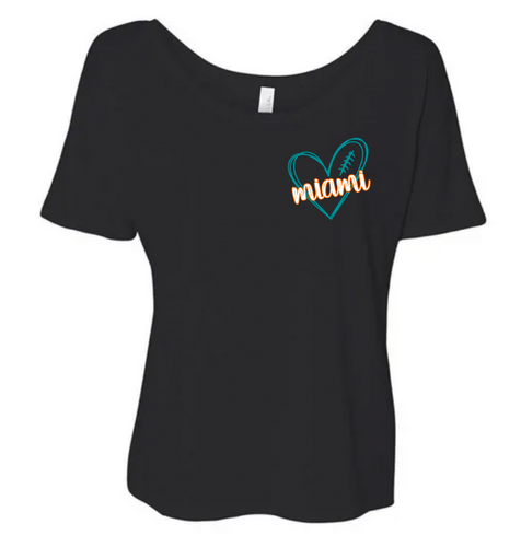 Miami Scribble Teal Heart