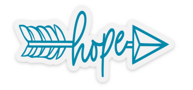 Hope Arrow Sticker - Water Proof, Scratch Proof Premium Clear Sticker