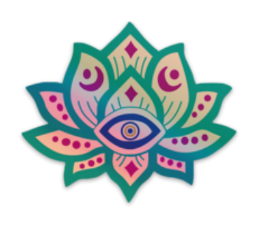 Holographic Lotus Sticker - Water Proof, Scratch Proof Premium Clear Sticker