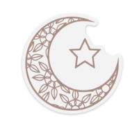 Moon & Star Water Proof, Scratch Proof Premium Clear Stickers