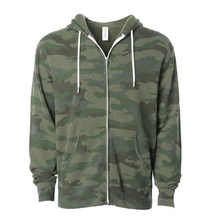 Camo Fleece Zip Jacket
