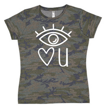 Eye Love You Valentine Shirt - Camo