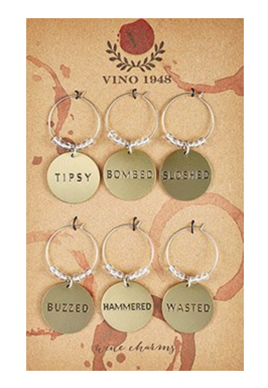 DRUNK Wine Charm Set