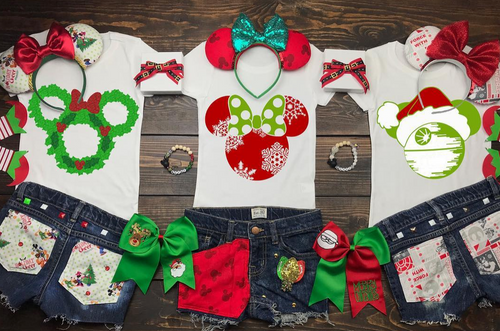 Christmas Minnie and Mickeys, Santa, Disney Christmas Shirt, Funny Christmas Shirt, Christmas Shirt, Kid Holiday Shirt, Santa Visit Shirt, Family Shirts, Family