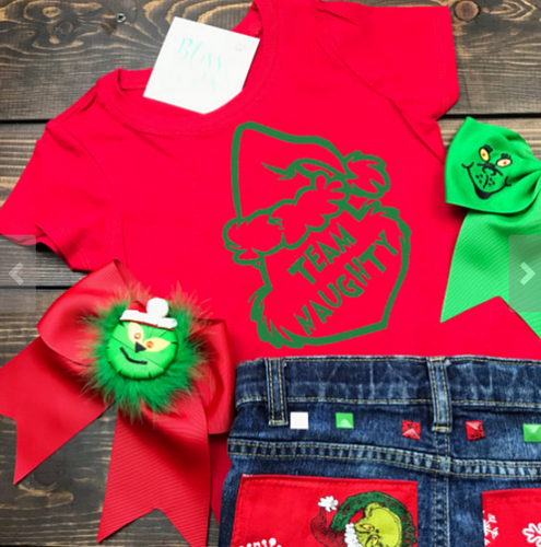Team Naughty, Team Nice, Grinch, Grinchmas, Seuss, Dr, Seuss, Disney Christmas Shirt, Funny Christmas Shirt, Christmas Shirt, Kids Holiday Shirt, Santa Visit Shirt, Family Shirts, Family