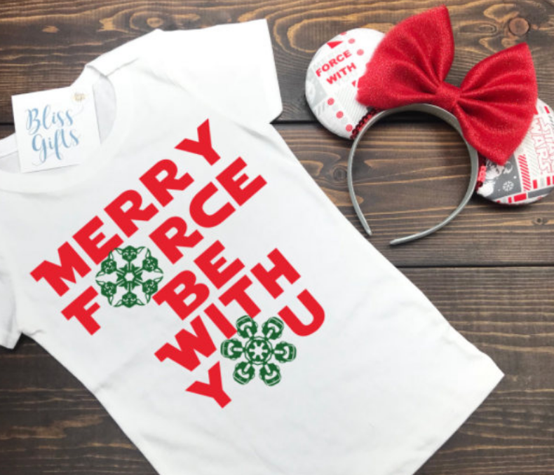 Merry Force Be With You, Star Wars Christmas, Disney Christmas Shirt, Funny Christmas Shirt, Christmas Shirt, Kid Holiday Shirt, Santa Visit Shirt, Family Shirts, Family