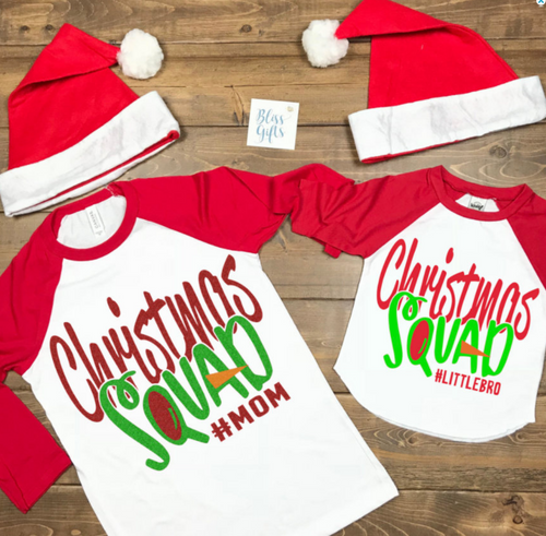 Christmas Squad, Family Personalized Shirt, Funny Christmas Shirt, Christmas Shirt, Kids Holiday Shirt, Santa Visit Shirt, Family Shirts, Family