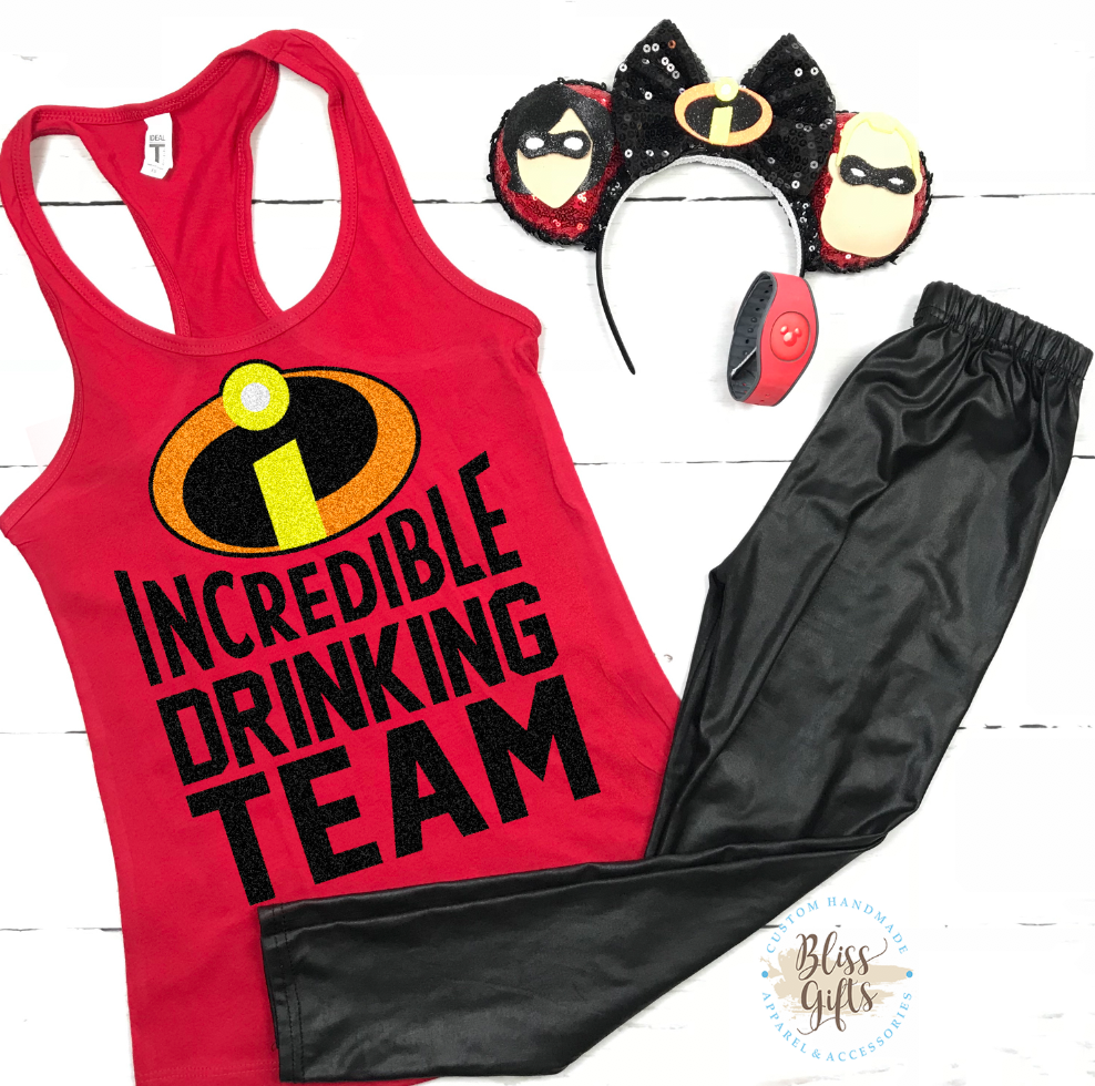 Pixar, Incredibles, Incredible Drinking Team, Drinking Shirt, this cowgirl runs on whine and disney, Epcot food and Wine Shirt Disney Drinking