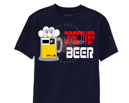 Pixar, Wall-E, Directive?  Beer,  Epcot food and Wine Shirt Disney Drinking