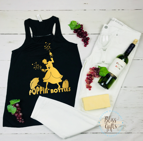 7a93e7a9 Mary Poppins Poppin bottles Epcot food and Wine Shirt Disney Drinking