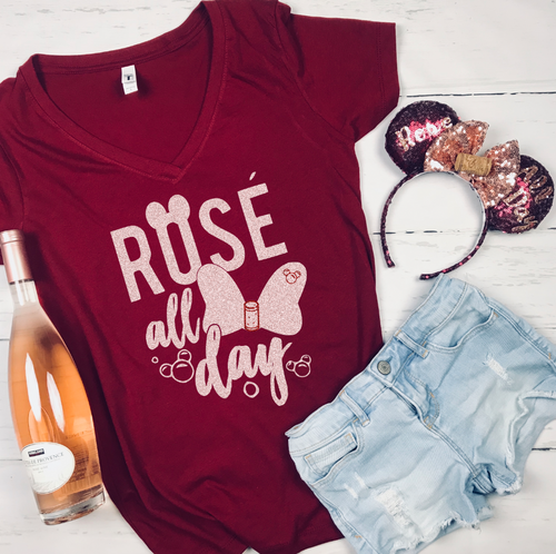b7f9fbe0 Rose All Day Epcot food and Wine Shirt Disney Drinking