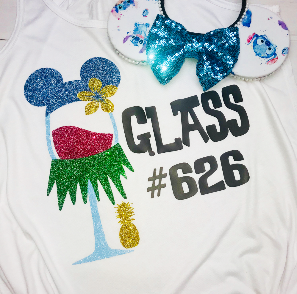 Stitch Wine Glass, Epcot Food and Wine, Disney Drinking Shirts, Lilo and Stitch