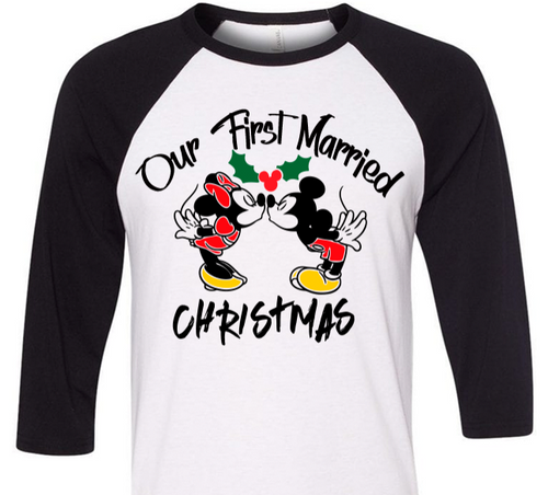 Our First Christmas, Disney Couple Shirt, Disney Couples Shirt