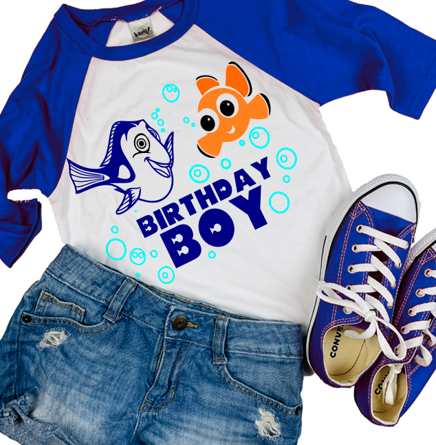 Nemo & Dory Birthday Shirt