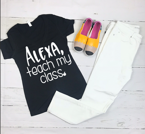 Alexa Teach My Class Teacher Shirt