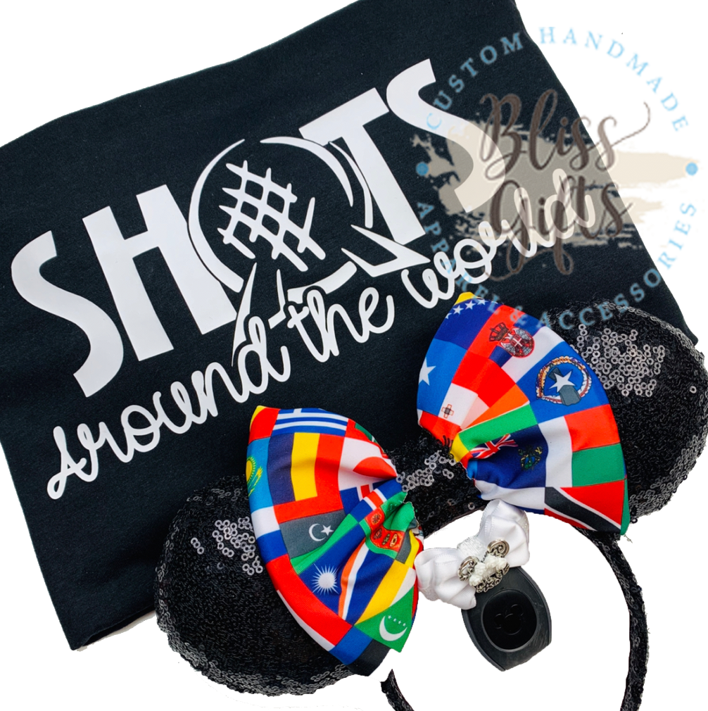 Shots Around The World ADD - ON BACK OF SHIRT ONLY