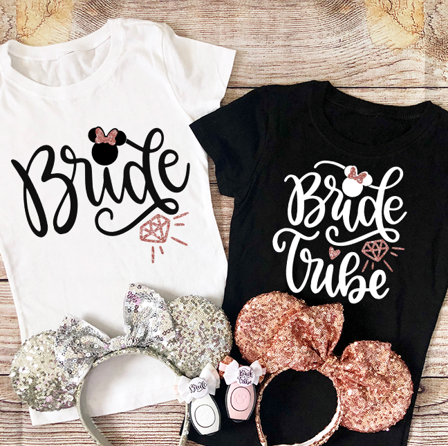Bride and Bride Tribe Shirts