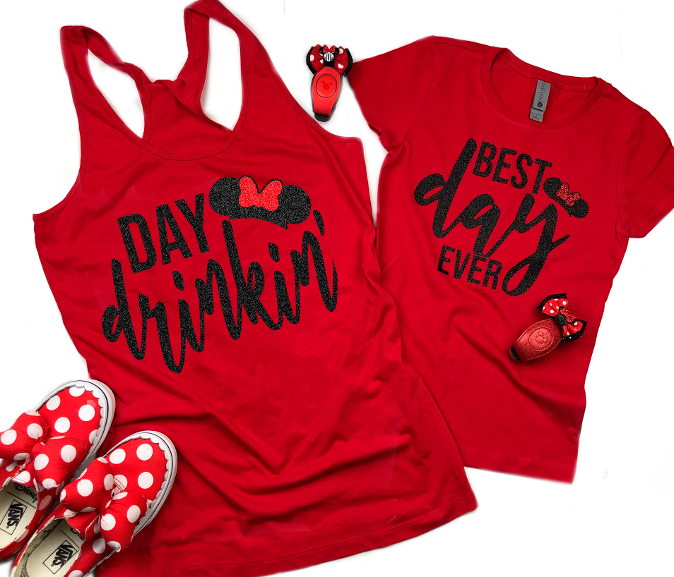 Best Day Ever Mickey and Minnie Family Food and Wine Shirts