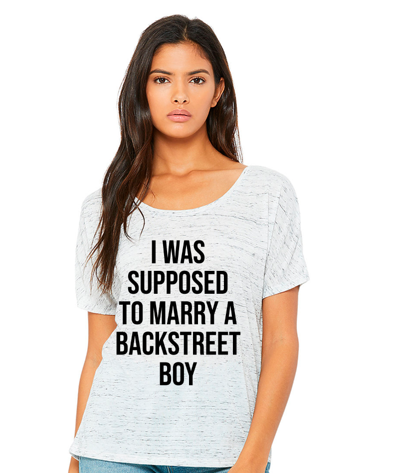 Supposed to Marry a Backstreet Boy Concert Shirt