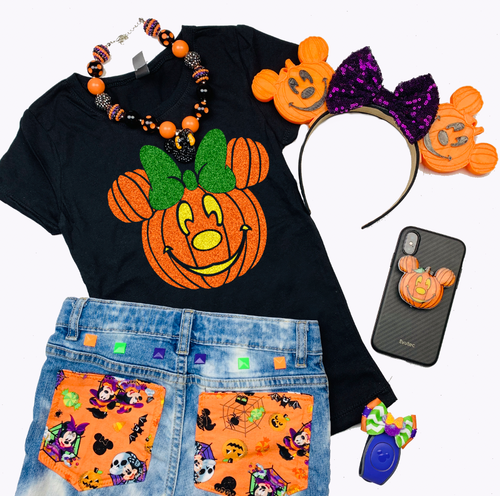 Kids Pumpkin Mickey Shirt