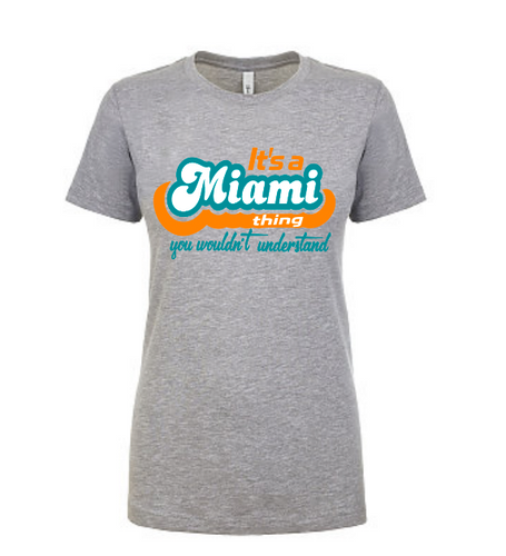It's a Miami Thing - Adults Gray