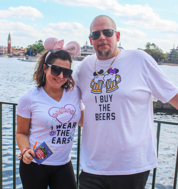 Flower and Garden Couples Shirts Ears / Beers