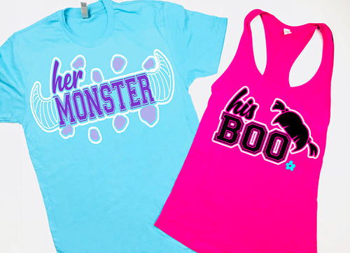 Couples Shirts Monsters Mike Boo Sully Matching Shirts
