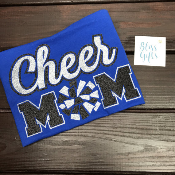 Cheer Mom Bling Sparkle Shirt