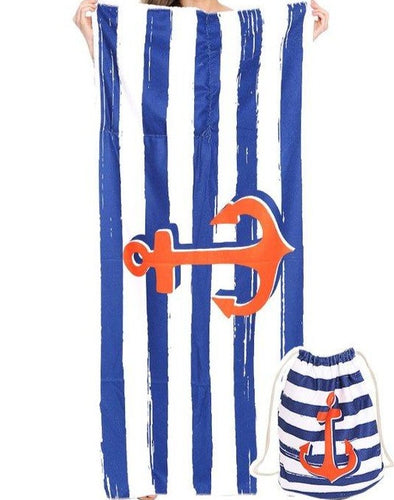 Anchor Drawstring Towel Bag