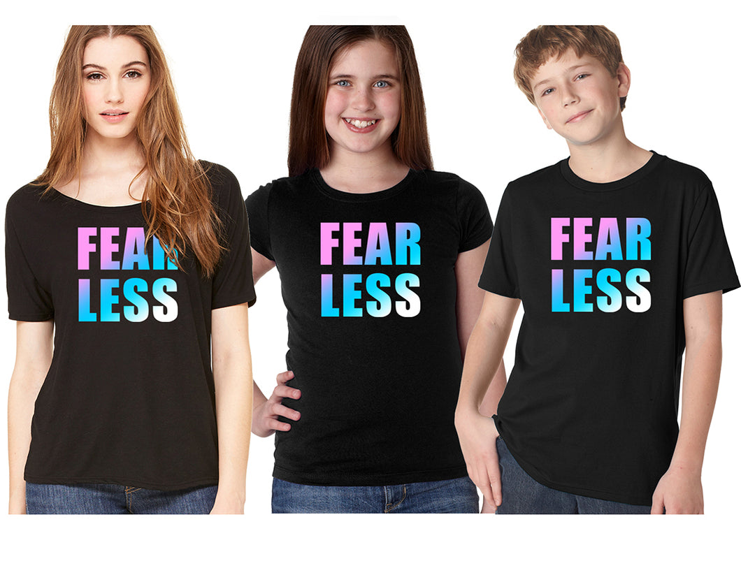 FEAR LESS GRADIENT TEE - BLISS BABE SHIRT FOR APRIL