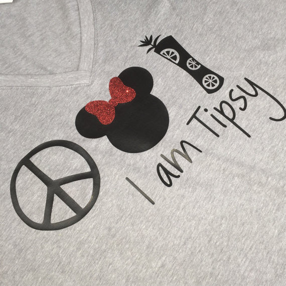 I Am Tipsy Peace Minnie Mojito Epcot Food & Wine Shirt