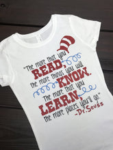 - The More You Read, Reading Shirt, The Hat Dr. Shirt