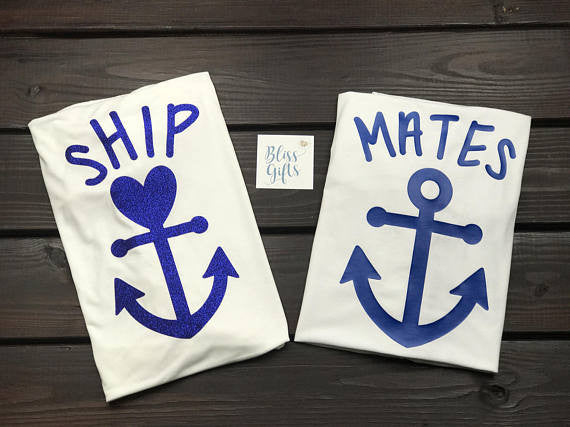 Ship Mates Shirt (Ship With Heart Anchor)