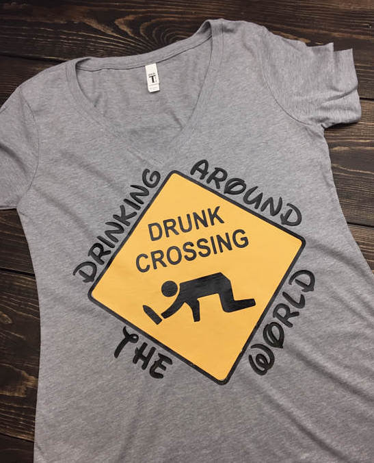 Drunk Crossing Epcot Food & Wine Shirt