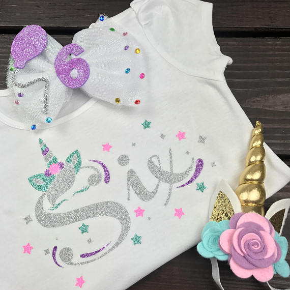 Unicorn Age, Unicorn Shirt, Unicorn Face, Lashes, Birthday, Personalized, Tee, Tank