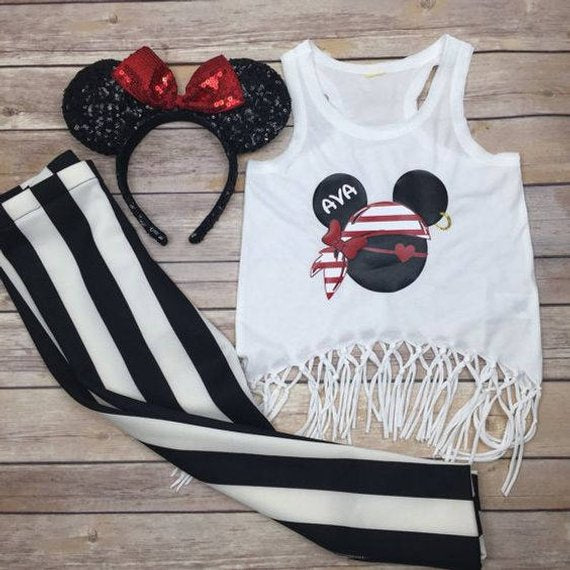 Disney Cruise Shirts | White Shirt | Pirate Shirts Disney | Mickey Pirate Shirt | Disney Personalized Family Vacation Shirts | Disneyworld Shirts