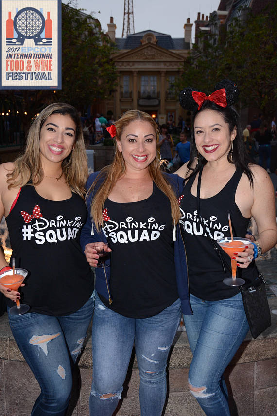 Drinking Squad Funny Disney Shirt | Disney Food And Wine | Food And Wine Shirts