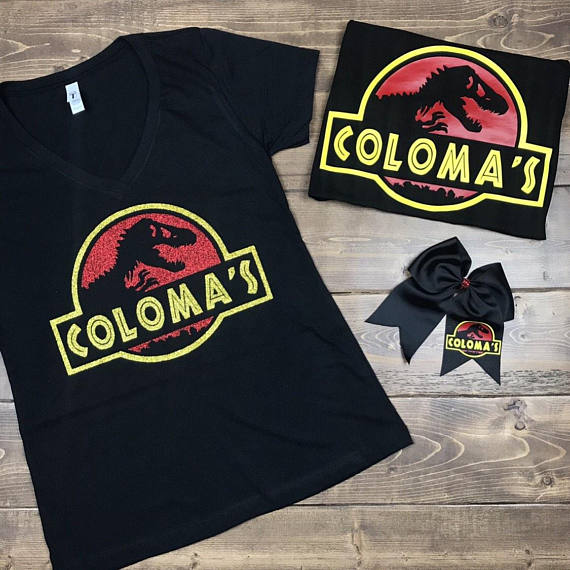 CUSTOM NAME - jurassic park shirt