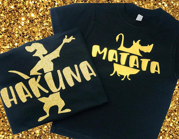 Disney Couple Shirts, Lion King Matching Shirts, Hakuna Matata, Disney Wife, Mommy and Me, Womens Disney Shirt, Disney Matching, Men's Boys