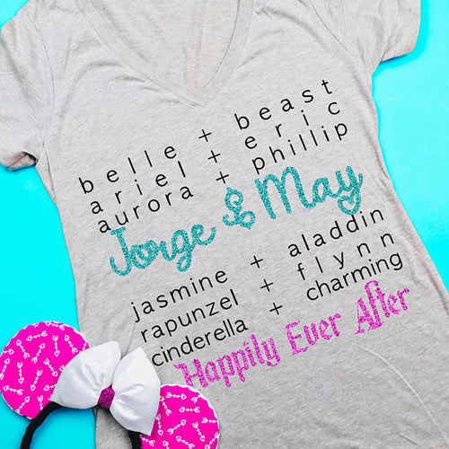 Disney Couple Shirt, Disney Couple, Disney Shirts, Disney, Prince, Princess, Matching, Personalized, Disney Wedding, Disney Honeymoon