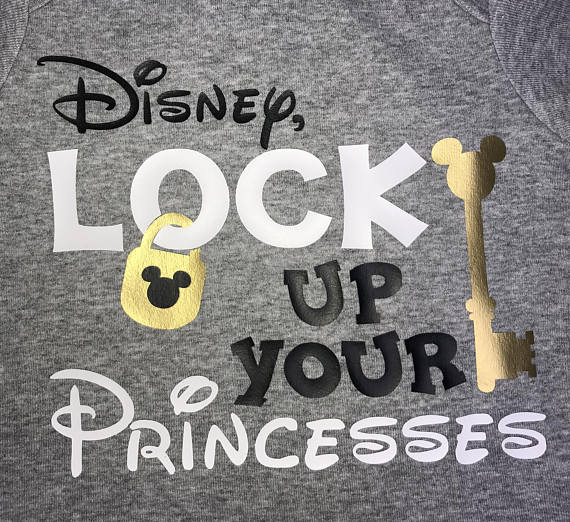 Copy of Lock Up Your Princesses, Mickey Shirt, funny disney shirt