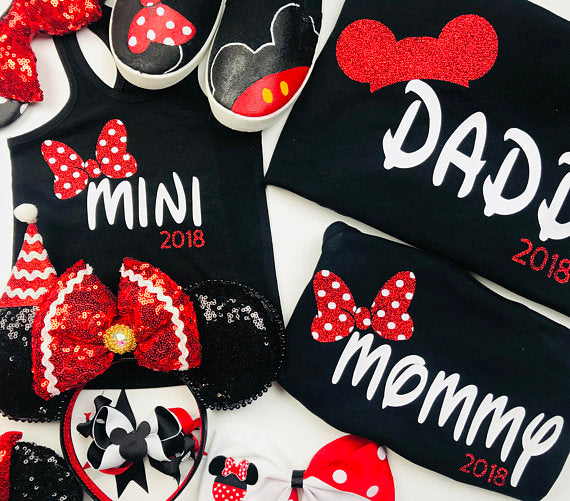 80af63e27 Mommy and Me Disney Shirts I Matching Minnie Shirts | Disney Family Shirts  I Family Disney