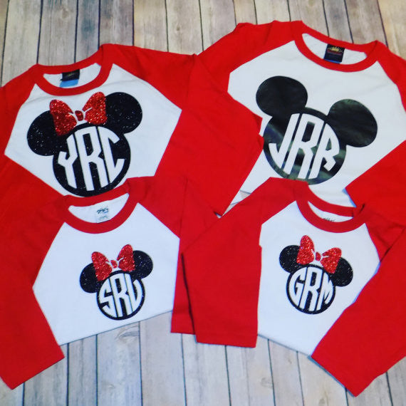 Monogram Mickey Minnie Shirt