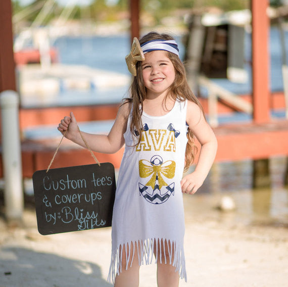 Personalized Anchor Beach Coverup