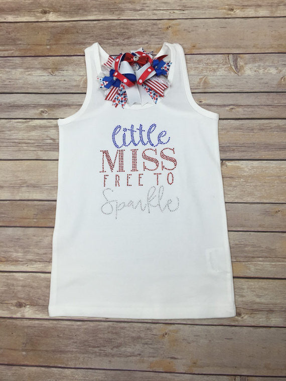 Little Miss Free To Sparkle Shirt