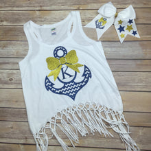 Bow Anchor Disney Cruise Personalized Initial or Monogram Top