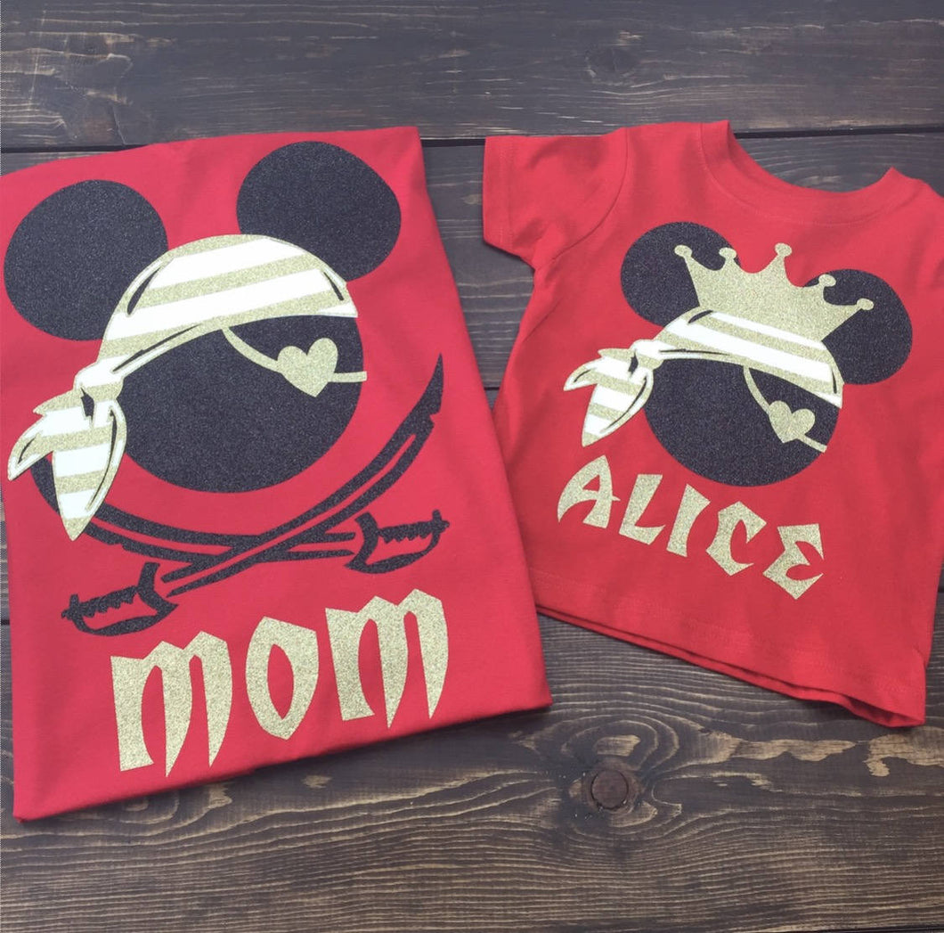 Disney Cruise Shirts | Pirate Shirts Disney | Mickey Pirate Shirt | Disney Personalized Family Vacation Shirts | Disneyworld Shirts