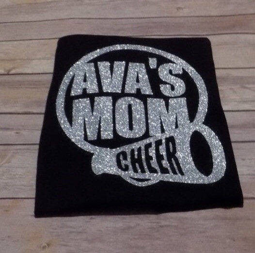 Cheer Mom Shirt | Proud Cheer Mom Shirt | Cheerleading Mom T-Shirt | Glitter Cheer Shirt | Personalized Cheer Shirts | Personalized Cheer