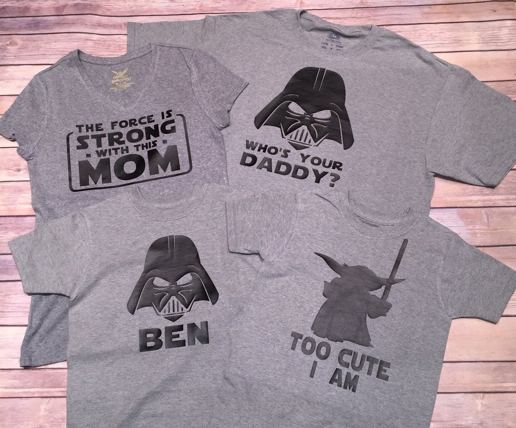 Star Wars Family Shirts Adult Sizes